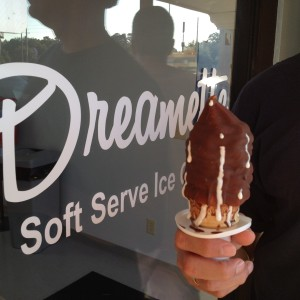 Photo taken at The Dreamette, a Jacksonville favorite for dipped cones.