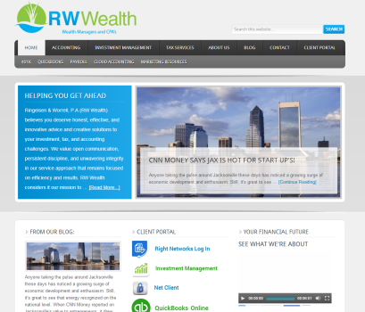 The new RW WEALTH home page!!